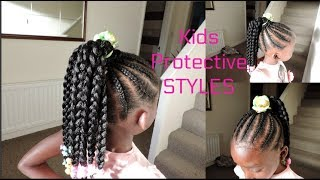 PROTECTIVE STYLES || CORNROWS AND CROCHET BRAIDS