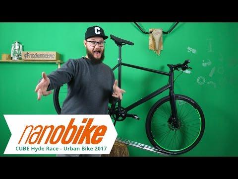 Cube Urban cube hyde race - urban bike 2017 | black n flashgreen - youtube