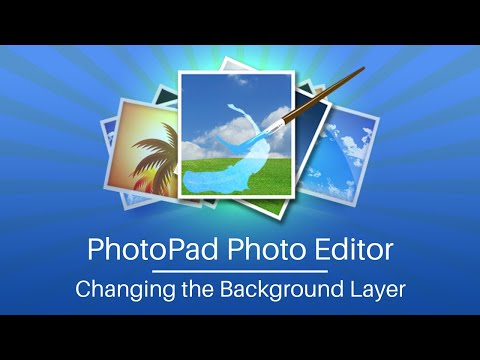 Changing The Background Layer - PhotoPad Photo Editing Software Tutorial