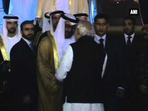 PM Modi receives Crown Prince of Abu Dhabi on his maiden India visit