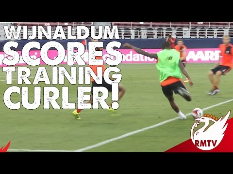Wijnaldum Scores A Curler! | Liverpool Training Footage