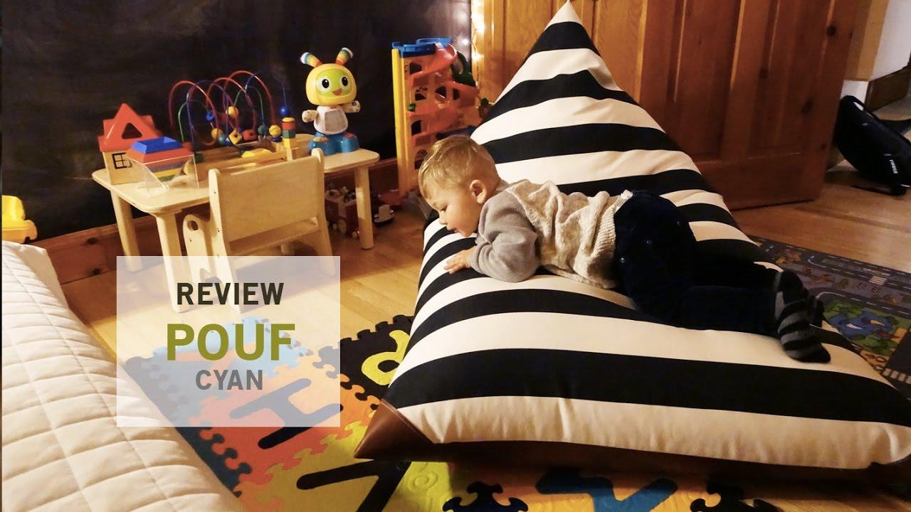 Review   Pouf Adultes Et Enfants   Cyan