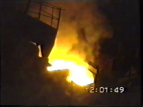 Last Cast from GWB Electric Arc Furnace at Clyde Shaw Steelworks Motherwell