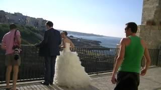 Италия,регион Апулия ,город Полиньяно а Маре.Свадебная фотосессия.