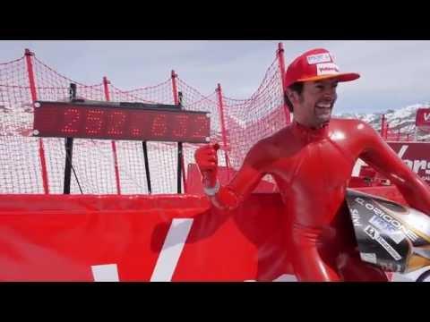 World record 252,632km/h (156.978mph) Simone Origone   Fastest man on earth (non motorised)