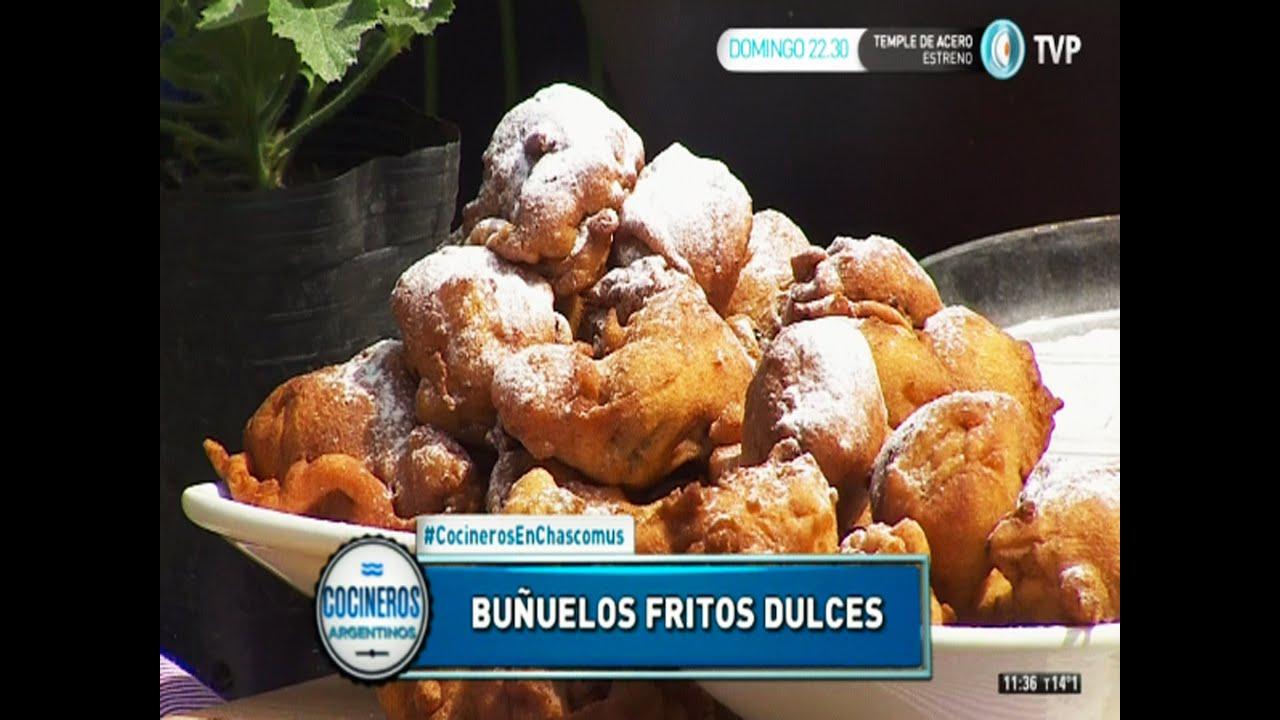 Buñuelos dulces frutales fritos