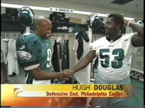 Gervase Peterson on The Early Show with Philadelphia Eagles