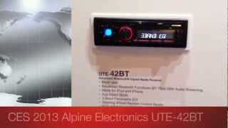 Alpine Electronics UTE-42BT Mechless Radio Blueooth CES 2013 Las Vegas DEBUT!