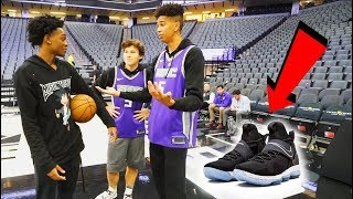 connectYoutube - 1v1 BASKETBALL WAGER vs. Future NBA SUPERSTAR De'Aaron Fox! LOSER BUYS ANY NIKES!
