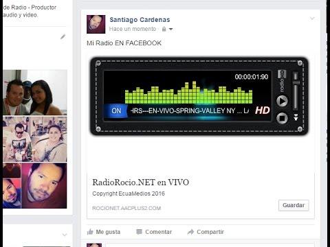 Reproductor de RADIO para FACEBOOK - facebook reproductor