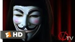 V for Vendetta (2005) - V on TV Scene (2/8) | Movieclips
