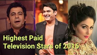 Top 10 Highest Paid Television Stars of 2016