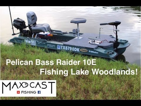 Pelican Bass Raider 10E: Fishing Lake Woodlands