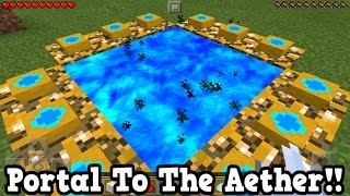 Minecraft Pe - How To Make A Portal To The Aether DIMENSION - Mcpe Portal To The Aether!!!