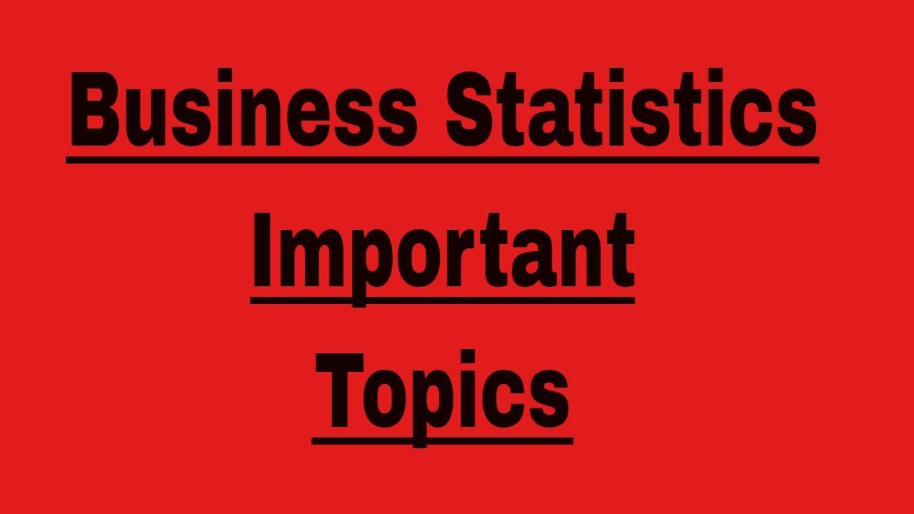 statistics paper topics