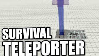 Minecraft PS4 -  SURVIVAL TELEPORTER - Tutorial ( PS3 / XBOX / WII  )