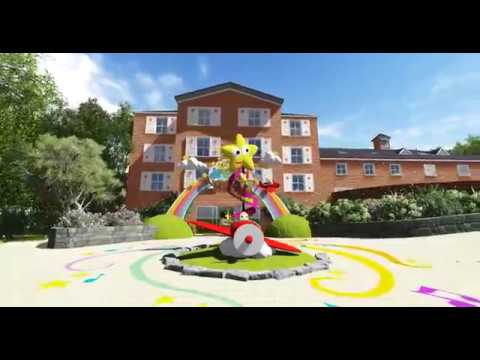 A flythrough of the new CBeebies Land Hotel at Alton Towers Resort