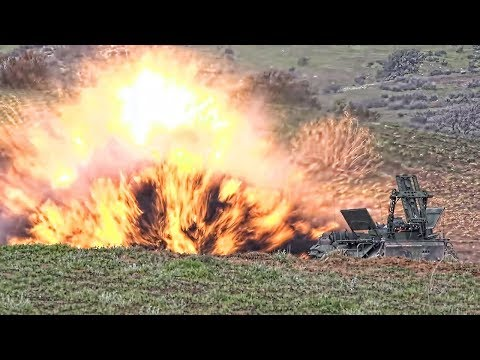 AAV Marines Explode MICLICs • Mine Clearing Line Charge