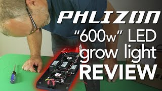 PHLIZON 600w LED Grow Light = Cheap Amazon LED Grow Light: Eddie Reviews