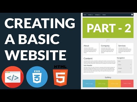 Creating A Basic Website - Part 2 - Practical Web Design Series