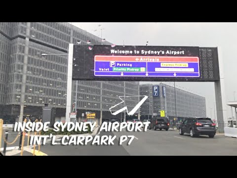 SYDNEY AIRPORT PARKING P7 ENTRANCE - Driving Inside