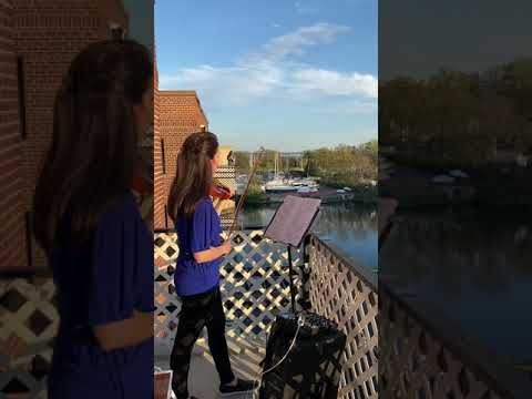 Rosemarie Castellano, a violinist, performs nightly from her balcony in New Rochelle for first responders, essential workers, her neighbors, and you. Special guest singers tonight are Songcatchers.