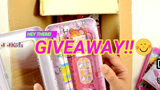 WHAT'S IN MY BOX!! GIVEAWAY. Barbie, Princess, Hello Kitty, Spiderman Pencil Box for Boys and Girls