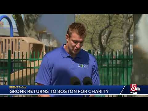 He's back! Gronk has returned to Boston to give money to a great cause