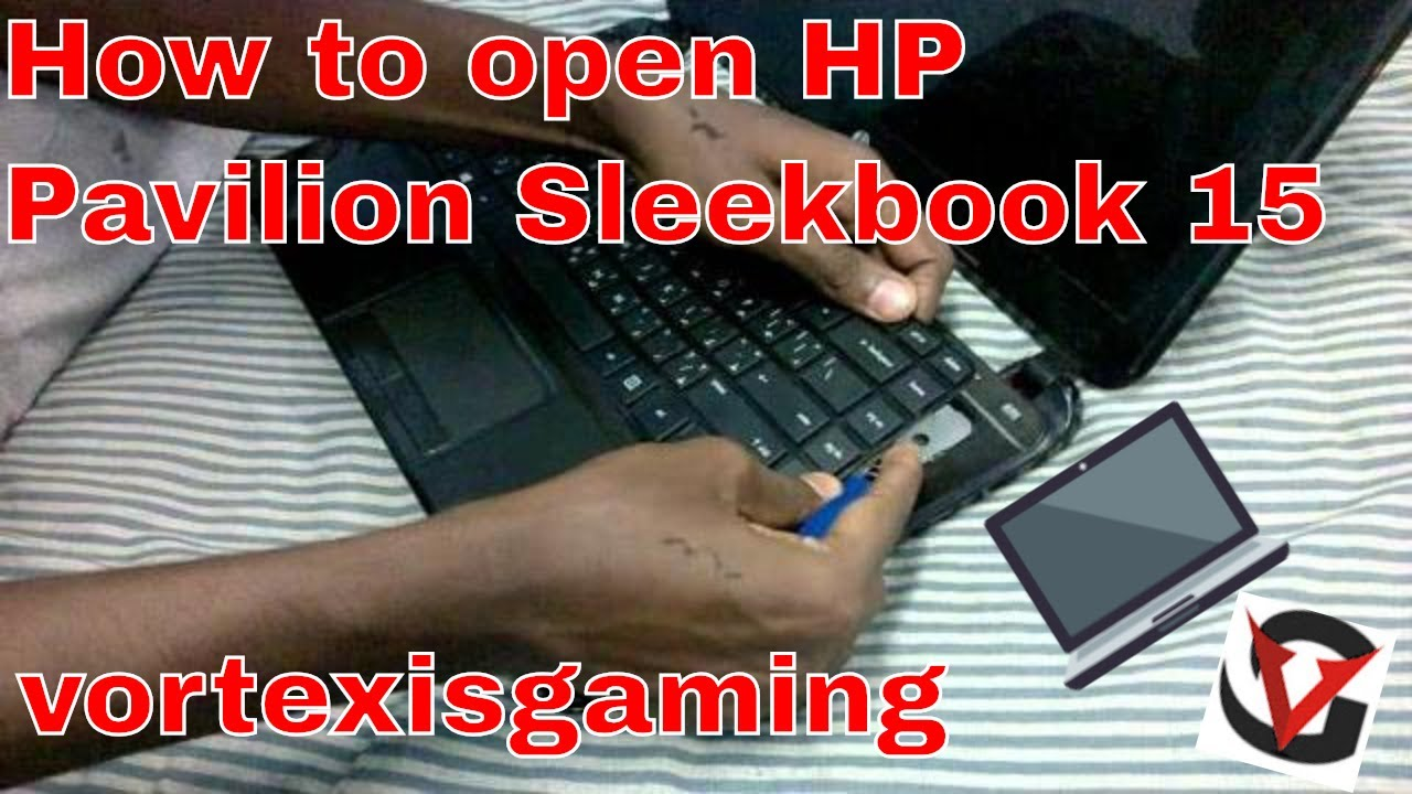how to open hp gaming laptop to clean fan