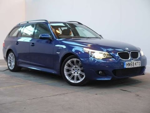 2009 bmw 520d m sport business edition touring 5d blue for sale in hampshire youtube. Black Bedroom Furniture Sets. Home Design Ideas