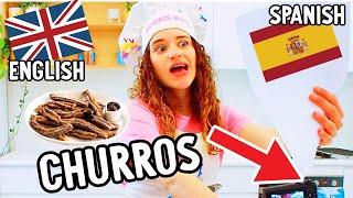 SABRE NORRIS SPEAKING SPANISH COOKING CHURROS w/The Norris Nuts