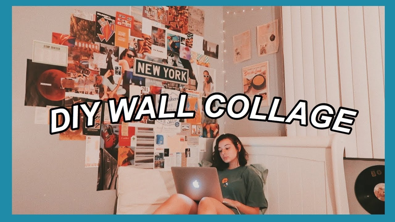 How I Made My Aesthetic Bedroom Collage Youtube