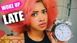 I WOKE UP LATE FOR SCHOOL! Morning Routine & Tips