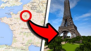 ILS ONT CONSTRUIT LA FRANCE ENTIÈRE DANS MINECRAFT ! TA MAISON EST DEDANS ! - Minecraft à la carte