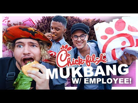 EATING CHICK-FIL-A'S ENTIRE MENU!! (WITH EMPLOYEE)