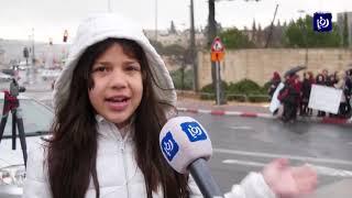 طالبات ينفذن وقفة احتجاجية ضد قرار الاحتلال إغلاق مدرستهن في القدس المحتلة - (20/1/2020)