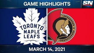 NHL Game Highlights   Leafs vs. Senators – Mar. 14, 2021
