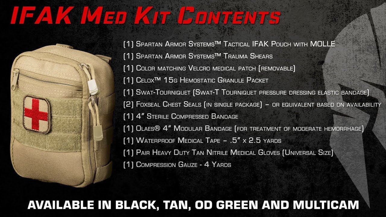 IFAK Med Kit Overview & Breakdown - Individual First Aid Kit by Spartan  Armor Systems™