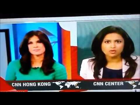 Funny News Anchor Blooper on CNN International Live TV Mistake