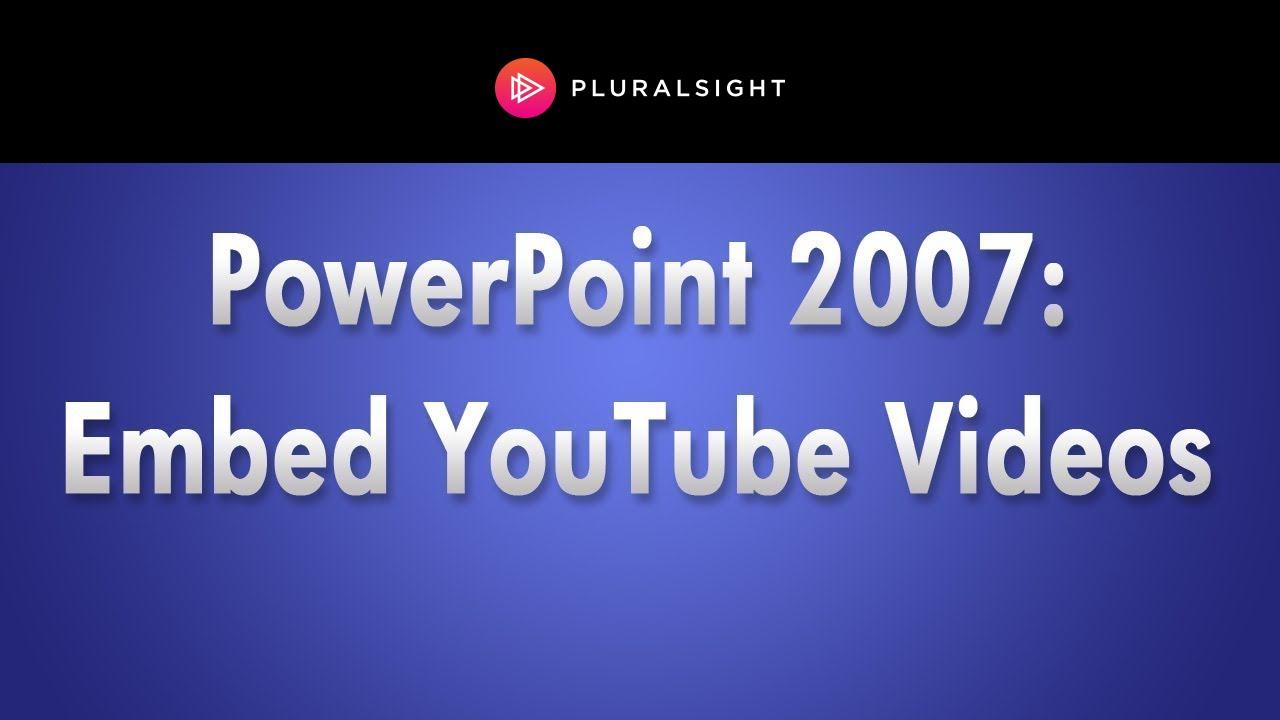 Embedding YouTube Videos in PowerPoint 2007 – Heather Ackmann