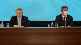 Conferencia de prensa del presidente de la Nación y el gobernador de San Juan