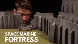 Build a SPACE MARINE FORTRESS! DIY Terrain Crafting for Warhammer 40k