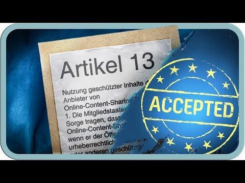Artikel 13 kommt