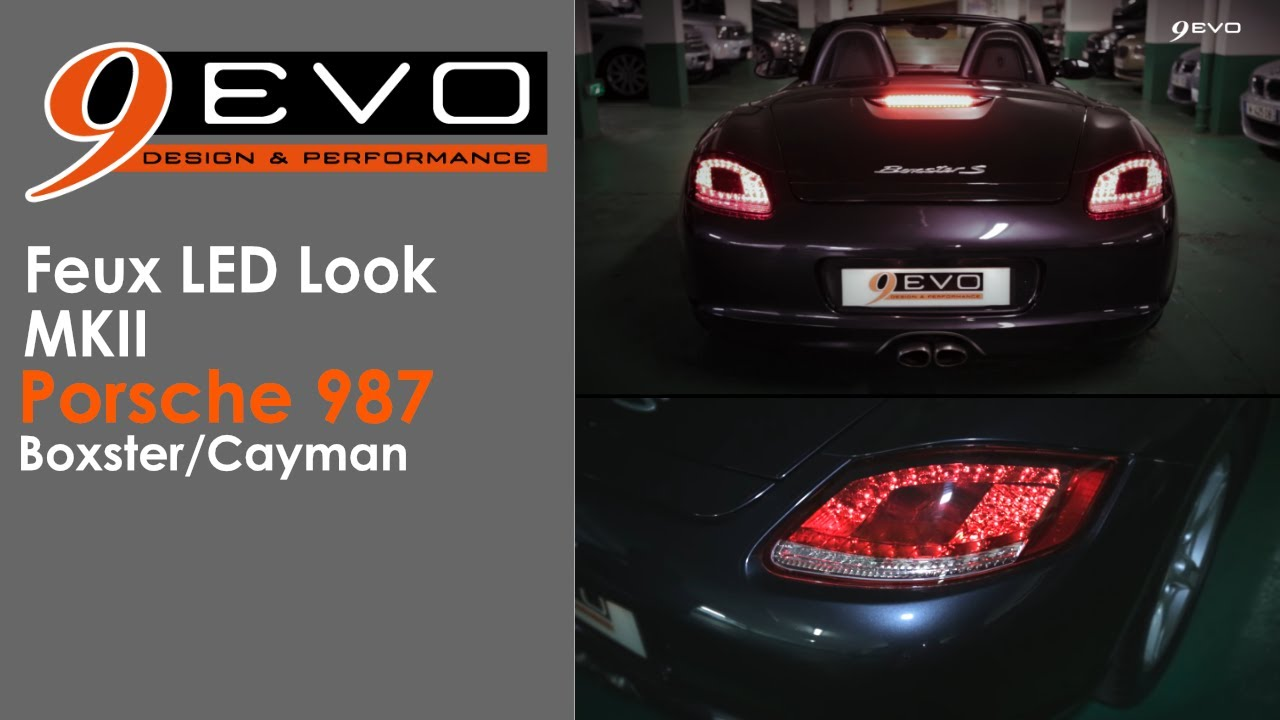 9 Evo Com Feux Led Look Mkii Pour Porsche Boxster