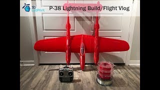 3D Printed P-38 Lightning from 3DLabPrint - Build/Flight Vlog