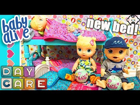 Baby Alive Brother Gets New Bunk Bed Opening Lil Sisters