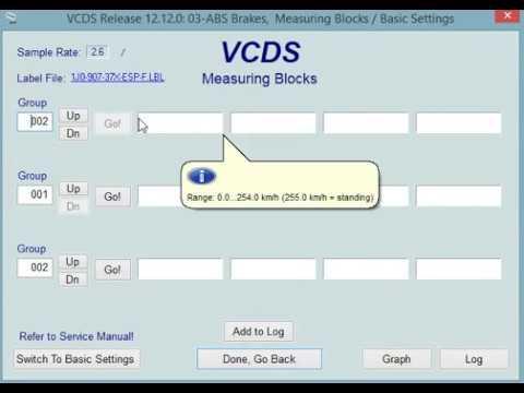 VCDS ABS block measurements