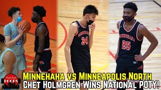 Chet Holmgren Drops Near Quadruple Double! Minnehaha Shows Out vs Minneapolis North