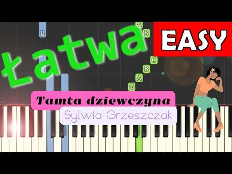 🎹 Tamta dziewczyna (Sylwia Grzeszczak) - Piano Tutorial (łatwa wersja) 🎹