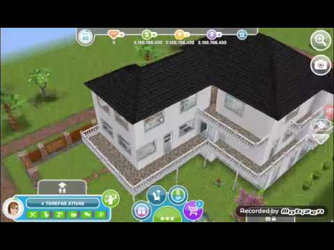 Tour pela minha casa the sims freeplay youtube for Casa de diseno sims freeplay